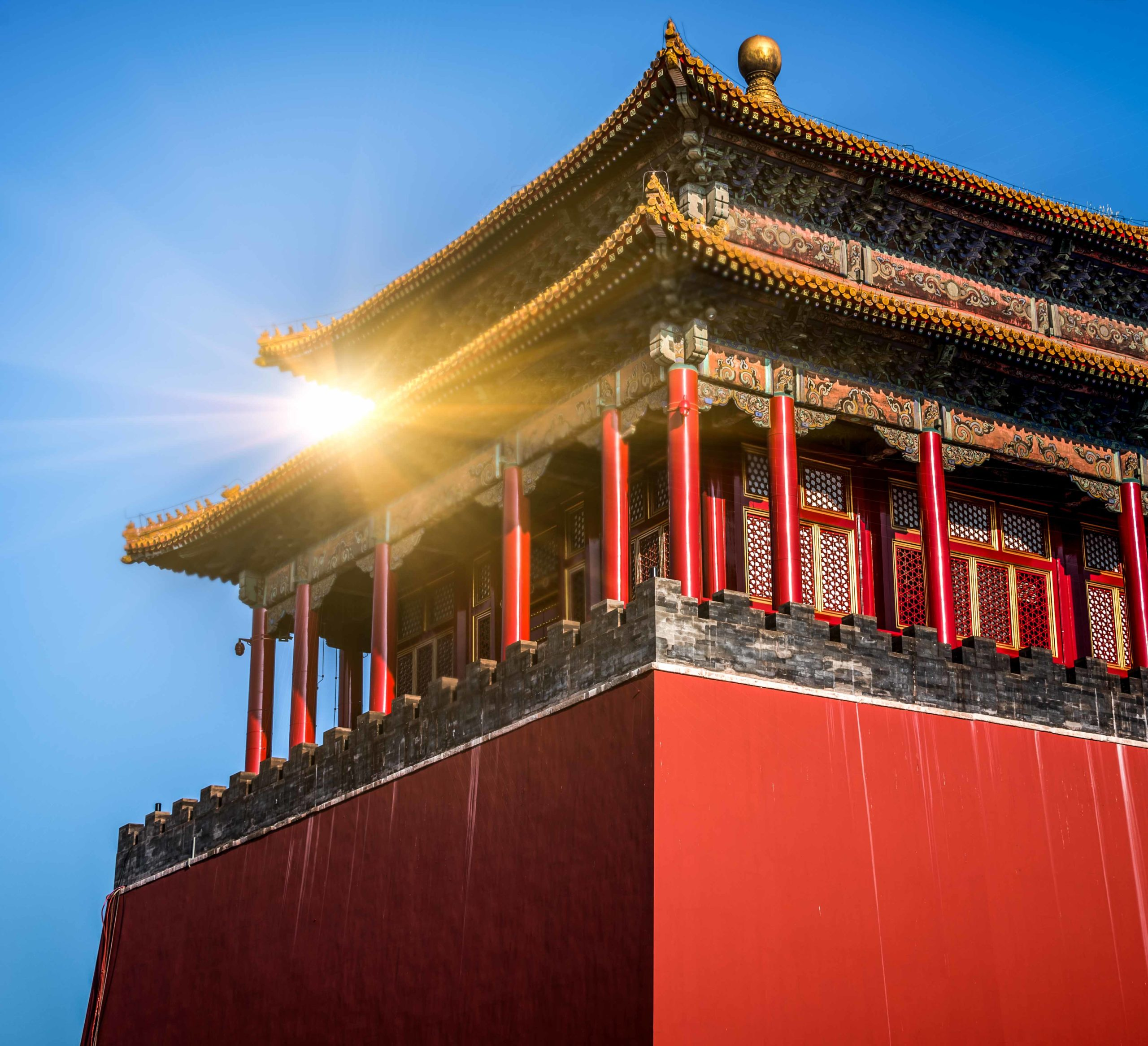 Roof decoration in Forbidden City of Beijing,China.