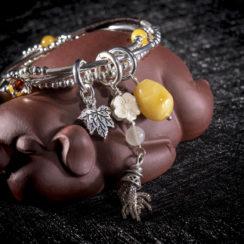 Bracelet argent & hécatolite