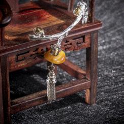 Bracelet argent & pierre