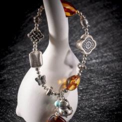 Bracelet argent & ambre